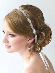 полный кристалл цветок ручной атласной лентой зашнуровать оголовье для свадьбы партии ювелирных изделий повелительницы волос