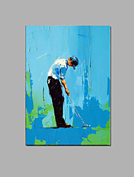 Hand-painted Golf people Oil Painting with Stretched Frame