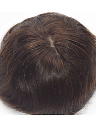 "8""x10"" Virgin Indian Human Hair Men's Toupee Super Thin Skin 120% Hair Density"