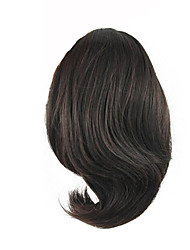 Length Wig Dark Chocolate Short Ponytail 25CM Synthetic Straight High Temperature Wire Color 2/33