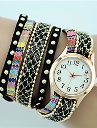 Women's European Style Fashion New Bohemian Ethnic Style Wrapped Bracelet Watch Strap Watch