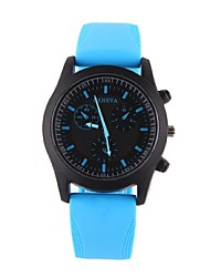 Couple's Watch GENEVA Geneva Jelly Silicone Strap Quartz Watch Student Couples(Assorted Colors)