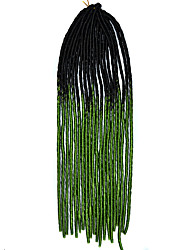 20 polegadas kanekalon tranças senegalês crochet macio dreadlock trança cor do cabelo ombre com agulha de crochê