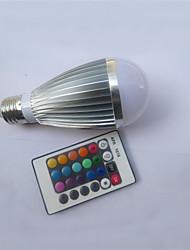 9W E26/E27 LED Kugelbirnen A50 1 Hochleistungs - LED 450-600 lm RGB Ferngesteuert AC 85-265 V 1 Stück