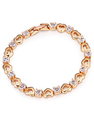 Bracelet Chain Bracelet Zircon / Gold Plated Wedding / Party / Daily / Casual Jewelry Gift Gold / White / Champagne,1pc