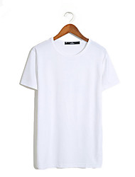 Hot Sale Summer T-shirt Men Clothes Cotton T shirts Solid Fashion Top High Quality Tee O-Neck