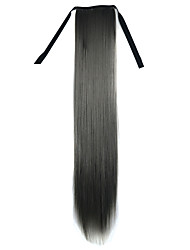 22 inch Dark Granny Grey Straight Tape in Synthetic Hair Extension