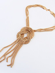 Necklace Choker Necklaces / Chain Necklaces Jewelry Wedding / Party / Daily Alloy Gold 1pc Gift