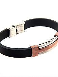 Cool Man  Leather Bracelets With Stainless Steel Charm Design Bangles for Men