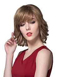 Fashion Natural Human Virgin Remy Hand Tied-Top Capless Hair Wig for Woman