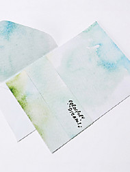 Watercolor letter set envelope 2 envelope(16.2*11.4CM)4 notepaper(15.9*22CM),random color