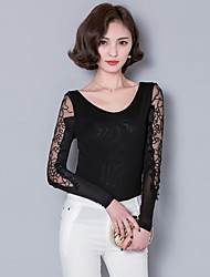 2016 Women New Embroidered Gauze Bottoming Shirt