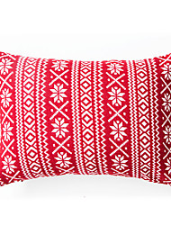 Knitted  Snow Cushion Cover-Red