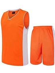 Ensemble de Vêtements/Tenus(Vert / Bleu Ciel / Orange) -Sport de détente / Badminton / Basket-ball / Course-Sans manche-Homme