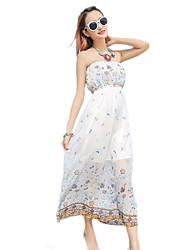 2016 Summer New Women's Sweet Bohemian Beach Floral Dress
