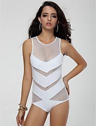 maillots de bain bikinis rapides à sec / compression des femmes réglable s blanc / m / l