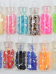 1set 12 Colors New Small Bottle Nail Art Magical Colors Resin Jewelry Design Nail DIY Decoration NC317