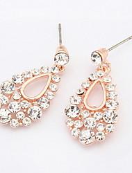 2016 Retro Fashion Hollow Tassel Earrings Long Big Hanging Luxury Vintage Water Drop Earrings With Stone For Women