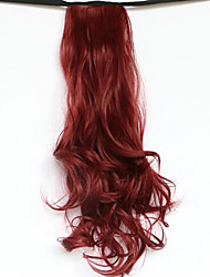Red Length 50CM The New Belt Type Long Curly Wig Horsetail Hair fake Ponytail(Color 118)