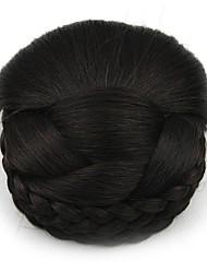 Kinky кудрявый черный профессии шнурка человеческих волос парики шиньоны 2/33