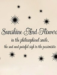 Sunshine And Flower Sun Pvc Wall Stickers Removable Home Decoration Diy Stickers Decals