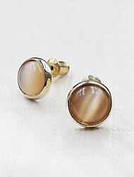 Damen Ohrring Kubikzirkonia / Legierung Opal Stud Earrings