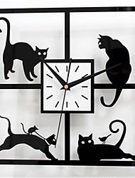 Moderno/Contemporáneo Otros Reloj de pared,Cuadrado Acrílico 30*30*5 Reloj