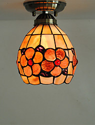 6 inch Retro Tiffany Ceiling Lamp /Shell Shade Flush Mount Living Room Dining Room light Fixture