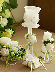 Garden Theme / Classic Theme Candle Favors-1 Piece/Set Candle Holders Non-personalised White