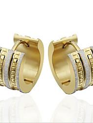 women Titanium Steel gold Hoop Earrings