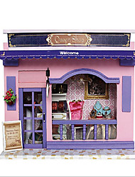 divertido chi DIY casa lojas europeias cabana com luz casa criativas dos namorados mão presente do dia