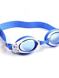 Kid's Swimming Goggles Blue Adjustable Size / Anti-slip Strap PC PU