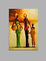 ручная роспись абстрактной африканские женщины картина маслом домашний ресторан декор с натянутой рамы