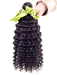 "10-28"" 6A Grade Brazilian Virgin Hair Deep Wave Bundles 4pcs Black New Star Virgin Brazilian Hair Weave Bundles"