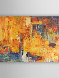 pintados à mão pintura a óleo por do sol abstrato com esticada quadro arts® 7 parede
