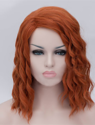 The New Wig Anime Characters Cos Orange Hair 14 Inch