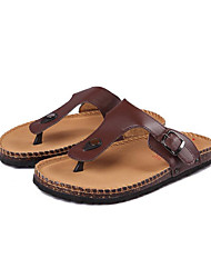 Men's Shoes Outdoor / Casual Synthetic Sandals Black / Brown / White