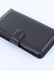 PU portefeuille en cuir porte-téléphone en relief pour nokia lumia 630