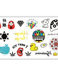 мода Временные татуировки Crayon Shin-chan сексуальное боди-арт наклейки водонепроницаемый татуировки 5pcs (размер: 2,36 '' от 4,13 '')