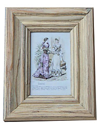 6*4*1 6 Inch Solid Wood European/Americano Style Vintage Picture Frame