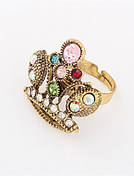 Europe Retro Metal Diamond Ring Ring Phoenix