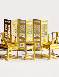 Пазлы 3D пазлы / Металлические пазлы Строительные блоки DIY игрушки Мебель Металл Розовый / Зеленый Модели и конструкторы