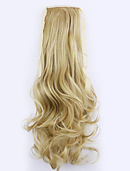 Black Length 50CM Factory Direct Sale Bind Type Curl Horsetail Hair Ponytail(Color 25)