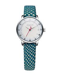 Mulheres Relógio de Moda Quartz Couro Banda Cores Múltiplas / Bege marca