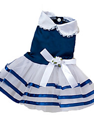 Dog Dress / Clothes/Clothing Red / Blue / Pink Summer Bowknot