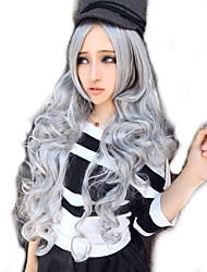 Harajuku серебро парик аниме косплей парик в Европе и Америке внешней торговли продавать, как горячие пирожки