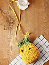 Women-Casual-Straw-Shoulder Bag-Yellow
