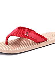 Men's Summer Flip Flops Linen Casual Flat Heel Blue / Red