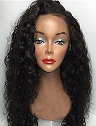 "Unprocessed 12""-26"" Inch 130% Density Virgin Brazilian Natural Color Curly Full Lace Wig Human Hair Lace Front Wigs"