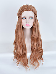 Fashion Natural Waves of High Quality Brown Color Synthetic Hair